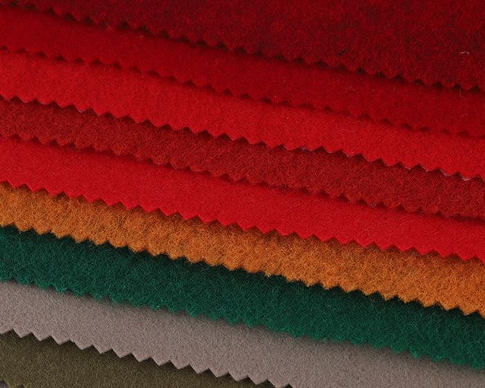 定制各种规格彩色针刺无纺布